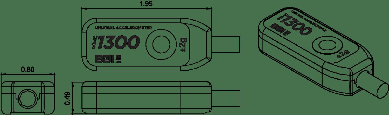 BDI Accelerometer drawing